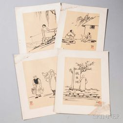 Four Ink Paintings