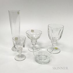 Group of Crystal and Glass Tableware