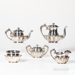 A. Stowell & Co. Five-piece Sterling Silver Tea Set