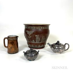 Four Wedgwood Silver- and Copper-plated Items