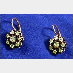 Antique Demantoid Garnet Earrings