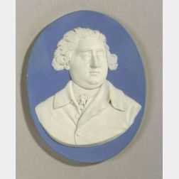 Wedgwood Blue Jasper Dip Portrait Medallion of Charles James Fox