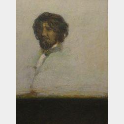 Framed Oil Portrait of Thoreau