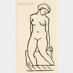 Aristide Maillol (French, 1861-1944)      A Page from ODES D'HORACE