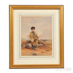 Attributed to William Collins (British, 1788-1847)      The Shrimp Boy
