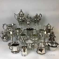 Twenty Silver Lustre Ceramic Tableware Items.     Estimate $20-200