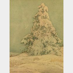 Albert Prentice Button (American, b. 1872)  Evening Shadows, Winter