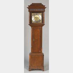 George III Crossbanded Oak Long Case Clock