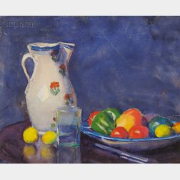Margaret Jordan Patterson (American, 1867-1950)      Still Life with Pitcher