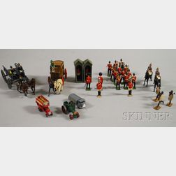 Group of British Painted Metal Figural Toys