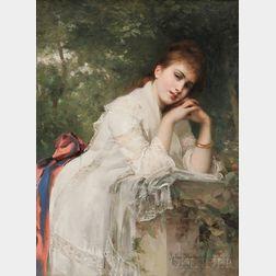 Jules Louis Machard (French, 1839-1900)      Meditation