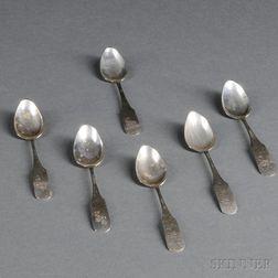 Six Coin Silver Teaspoons