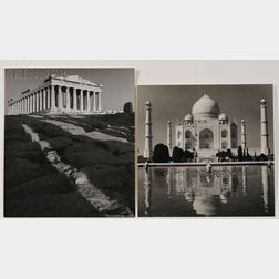 Wolfgang Suschitzky (Austrian/American, b. 1912)      Two Photographs: The Parthenon