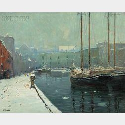 Arthur Clifton Goodwin (American, 1866-1929)      T Wharf