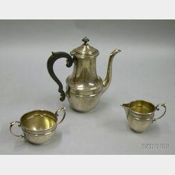Three Piece Gorham Sterling Silver Tea Set.