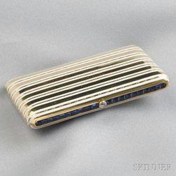18kt Gold, Sapphire, and Enamel Cigarette Case, Cartier