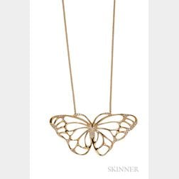 18kt Gold and Diamond Butterfly Pendant, Angela Cummings, Tiffany & Co.