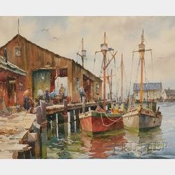 John Cuthbert Hare (American, 1908-1978)      Workers at the Boatyard