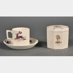 Two Wedgwood Alfred Powell Decorated Items