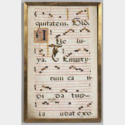Manuscript Leaves on Parchment