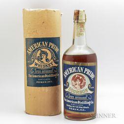 American Pride Bourbon 1912, 1 quart bottle (ot)