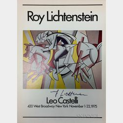 After Roy Lichtenstein (American, 1923-1997)      Exhibition Poster from the Leo Castelli Gallery