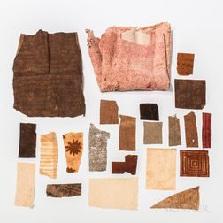 Collection of Hawaiian Tapa Fragments, Kapa