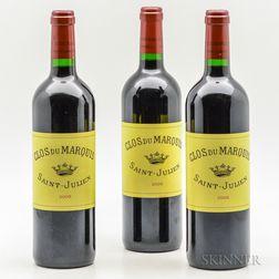 Clos du Marquis 2005, 3 bottles