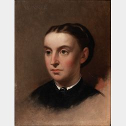American School, 19th Century    Portrait Head of a Woman, Possibly Sarah Margaret Fuller