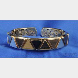 18kt Gold and Onyx Bracelet, Marina B.