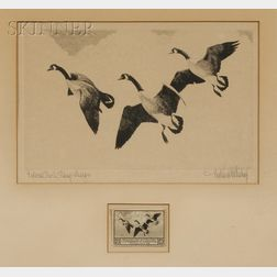 Richard Evett Bishop (American, 1887-1975)      Federal Duck Stamp Design