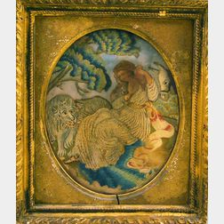 Framed Wool Needlepoint Picture