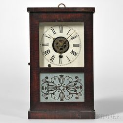 S.B. Terry Mahogany Cottage Clock
