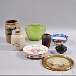 Group of Glass and Ceramic Items