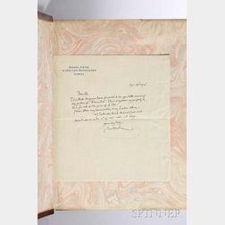 Rubáiyát of Omar Khayyám, trans. Edward Fitzgerald (1809-1883), illus. Edmund Dulac (1882-1953), with an Autograph Letter Signed by Dul