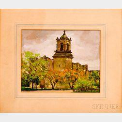 Frank Convers Mathewson (American, 1862-1941)      San Jose Mission, San Antonio
