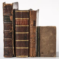 Botany, Four Illustrated English Titles, Late 18th and Early 19th Century.