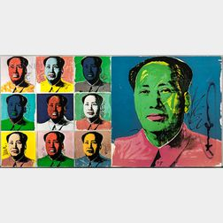 After Andy Warhol (American, 1928-1987)      Mao  /A Mailer Announcing the Publication of the Suite