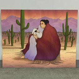 Rudolph Carl Gorman (American, 1932-2005)      Earth Mother