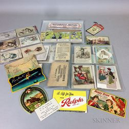 Group of Early Advertising Cards and Ephemera