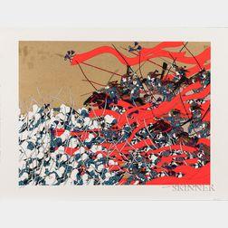 Hideo Takeda (b. 1948), Two Silkscreen Prints