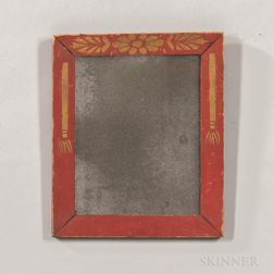 Red-painted and Gilt Stencil-decorated Frame