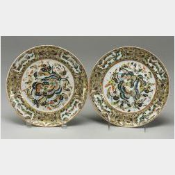 Pair of Thousand Butterfly Plates