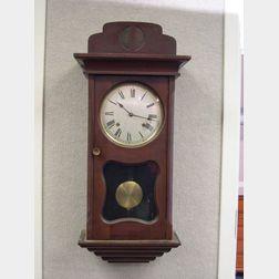 """Ansonia """"Uruguay"""" Mahogany Wall Clock"""