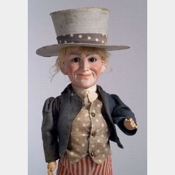 Bisque Head Uncle Sam Character Doll