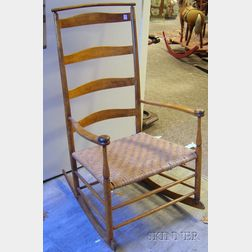 Mt. Lebanon Shaker Production No. 7 Maple Ladder-back Armrocker