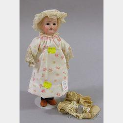 Small German Bisque Shoulder Head Doll