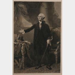 Washington, George (1732-1799) Engraved Portrait.
