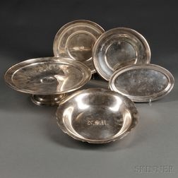 Five American Sterling Silver Serving Dishes