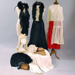 Miscellaneous Group of Victorian Lady's Fashion Accessories